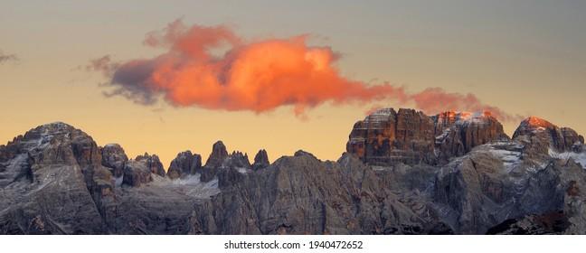 Brenta Dolomite in Italy, Europe
