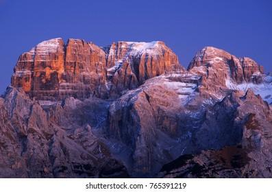 Brenta Dolomites in Italy, Europe