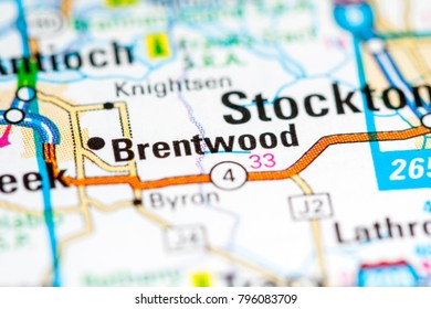 Brentwood California Usa On Map Stock Photo Edit Now 790568686