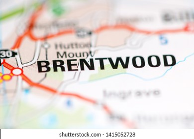 Brentwood. United Kingdom on a geography map