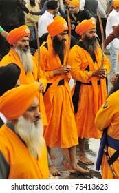 BRESCIA, ITALY - APRIL 16: Sikh devotees take part to Baisakhi procession 2011 on April 16, 2011 in Brescia