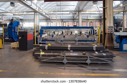 BRESCIA, ITALY - December 12, 2018 - Italian company specialized in construction of high precision molds for polymers molding (driver moulds, multi-cavity) - Mechanical workshop