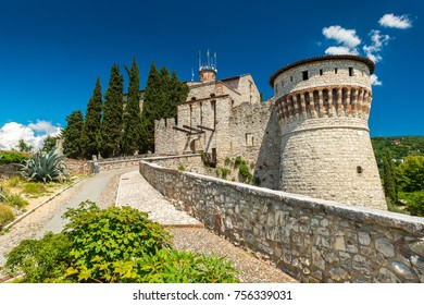 Brescia - July 2017, Lombardy region, Italy: The Castle of Brescia (Castello di Brescia)
