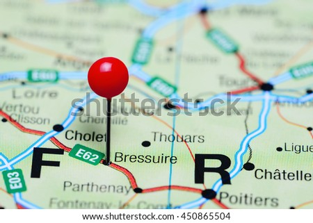 Bressuire Pinned On Map France Stock Photo (Edit Now) 450865504 ...