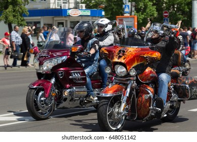 BREST, BELARUS - MAY 27, 2017: A Brest Bike Festival International annually attracts several thousand motorcyclists from different countries.