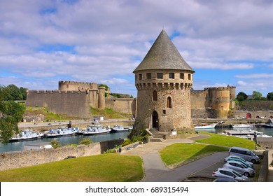 Brest castle and Tanguy tower in Brittany, France