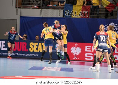 Brest, France - December 05,2018: The handball player KRISTIANSEN Veronica during the game between Norway and Romania at Handball European Championship 2018 -  Preliminary Round.