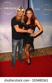 Bret Michaels and Maria Kanellis at NBC Universal's Press Tour Cocktail Party, Langham Hotel, Pasadena, CA. 01-10-10