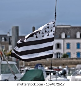 Breton flag in the wind