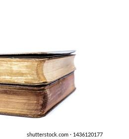 Breviary. Books of Catholic Church liturgy isolated on white.