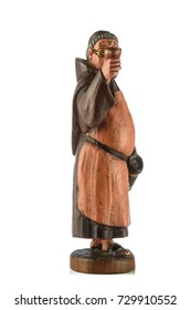 brewer statuette carved in wood