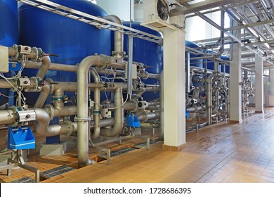 Brewing production - department for preparation of the water, filters
