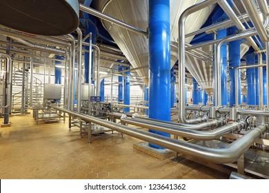 Brewing production - fermentation department