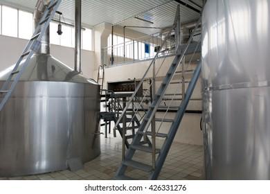 Brewing production - mash vats