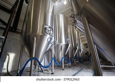 Brewing production vats