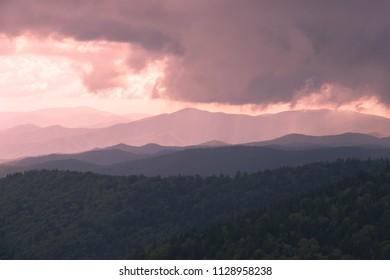 Brewing Storm Clouds - Clingmans Dome View - Great Smoky Mountains National Park