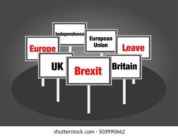 Brexit, Britain leaving EU signs