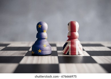 Brexit chess strategy concept