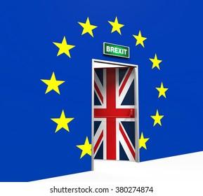 Brexit Door Illustration