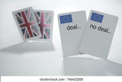 Brexit poker concept