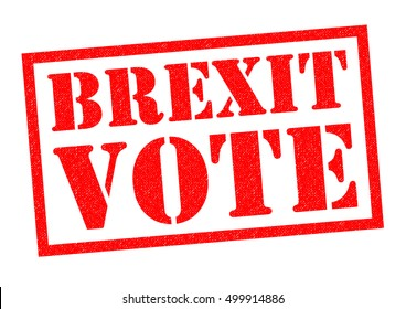 BREXIT VOTE red Rubber Stamp over a white background.