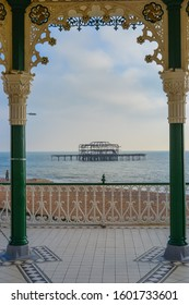 Brghton&Hove, UK, 29/12/2019: Brighton Beach Bandstand. Brighton & Hove's historic seafront bandstand re-opened in summer 2009
