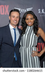 """Brian Najel, Megan Tandy attends  Skyline Entertainment's  """"The ToyBox"""" Los Angeles  Premiere at Laemmle's NoHo 7, North Hollywood, California on September 14th, 2018"""