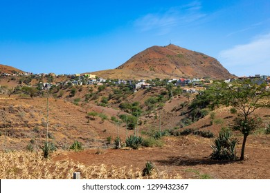 Brianda mount view in  Rebeirao Manuel in Santiago island in Cape Verde - Cabo Verde