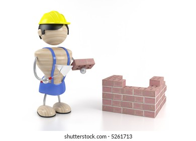 constructor and brick