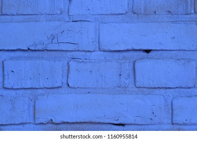 Brick background (detail of a brick wall, blue)