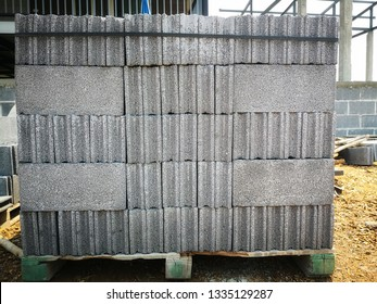 Brick blocks are being used to build houses.