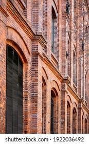 Brick building facade in Buenos Aires