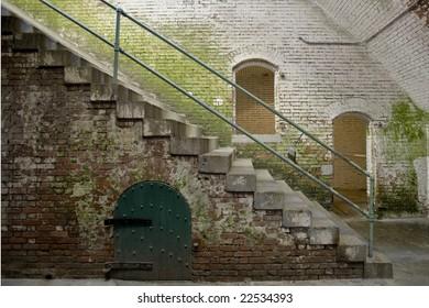 Brick Building interior color