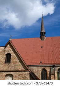 brick building on blue sky