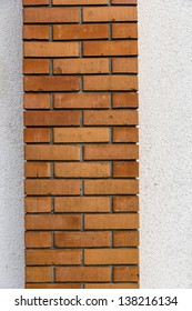 Brick Chimney Texture with White Wall Background