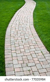 Brick Color Walkway