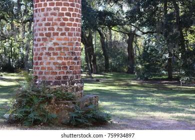 Brick Column at Sheldon