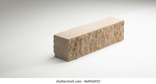 Brick concrete crushed narrow in different colors. on a white background.