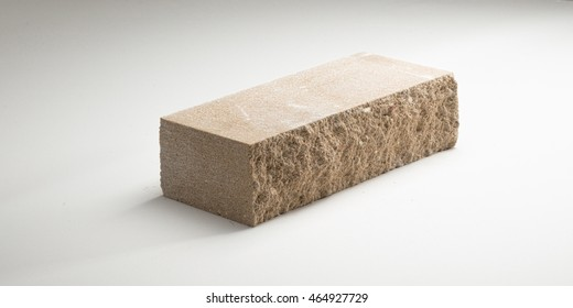 Brick Concrete split-sided in different colors. on a white background.