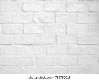 Brick with concrete wall painting white color texture, background.