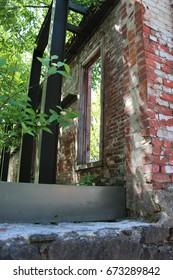 Brick facade preserved in the Pearl District, Portland Oregon.