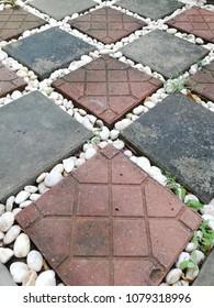 brick floor in garden