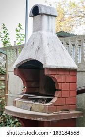 Brick garden barbecue
