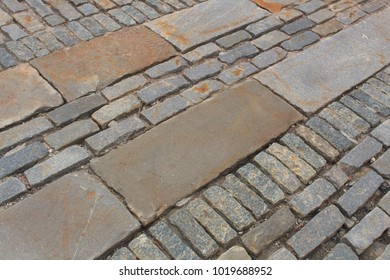 Brick and granite patterned background