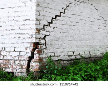 Brick house with a crack for your design