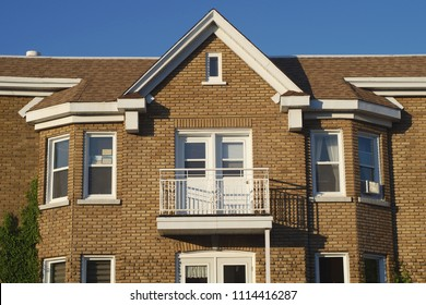 brick house window residential architecture roof facade