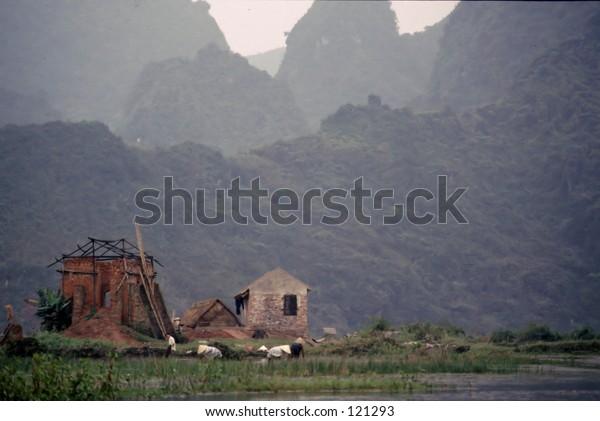 Brick kiln near Hanoi, Vietnam
