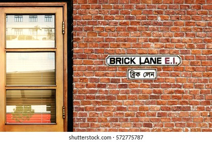 Brick Lane street sign. One of the most famous streets in London.