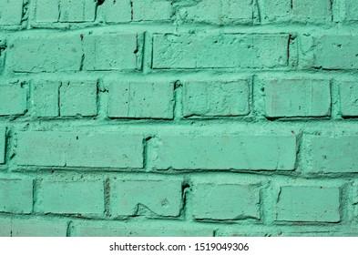 Brick mint wall texture  background