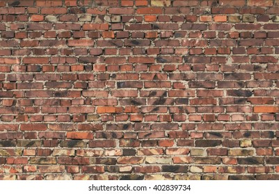 Brick old wall. Vintage background. Texture of old brick.